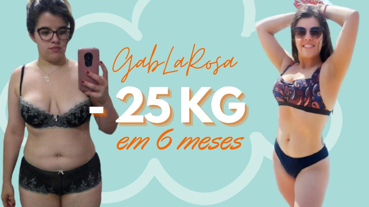 Veja como Gabi La Rosa emagreceu 25 kg em 6 meses.