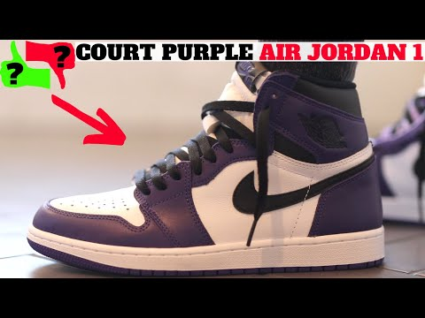 Worth Buying ? AIR JORDAN 1 COURT PURPLE 2020 REVIEW ON FEET!