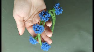 Цветок василька плетеный из бисера техника ндебеле