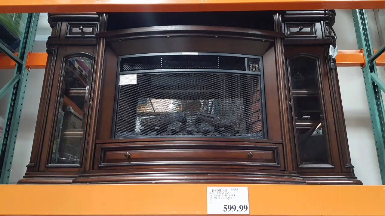Electric Fireplace.com Costco Well Universal Wood Electric Fireplace 599