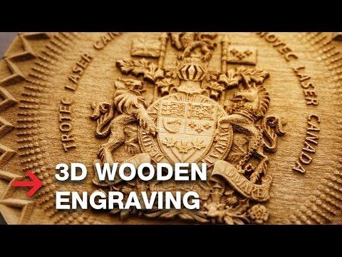 3D Wooden Engraving | Laser Engrave 3D Coat of Arms