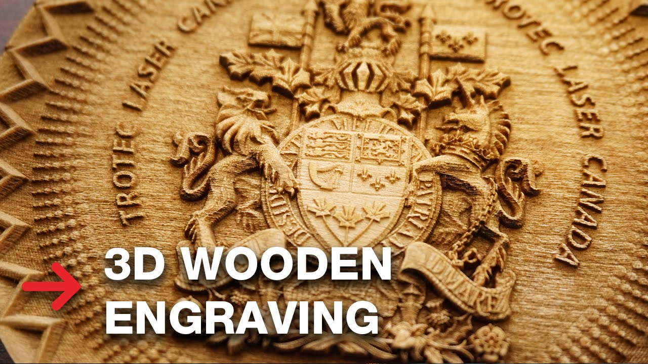 3d Wooden Engraving Laser Engrave 3d Coat Of Arms Youtube