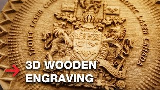 3D Wooden Engraving | Laser Engrave 3D Coat of Arms