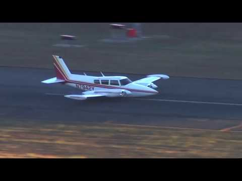Perfect belly landing Piper Pa-30 11.20.2017