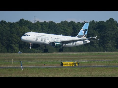 Frontier Airlines A320 Take Off from ISP!