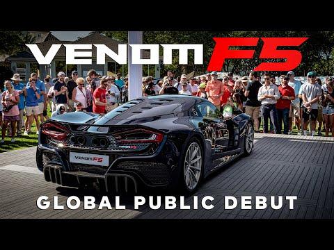 Hennessey Venom F5 Global Public Debut // Amelia Island Concours 2021