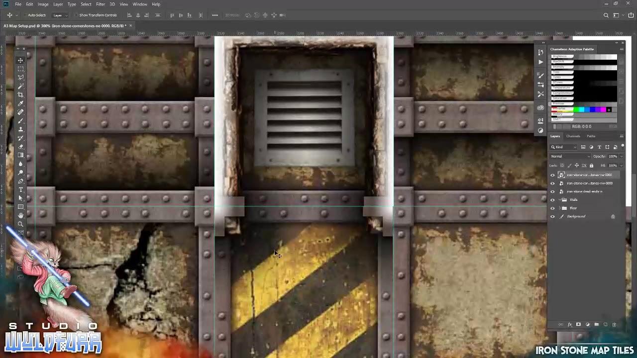 Iron Stone Map Tiles - WyldFurr | RPG Maps | Wargame Vault