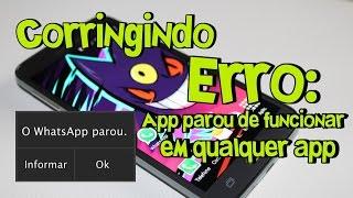 """Como corrigir ERRO """"aplicativo parou de funcionar"""" em qualquer app no Android"""