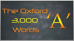 The Oxford 3000 Words List - Words starting with Letter 'A' - Learn English Words Vocabulary