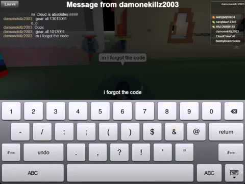 Roblox Kohls Admin Gear Codes Part 1 Youtube - how to get roblox gear codes
