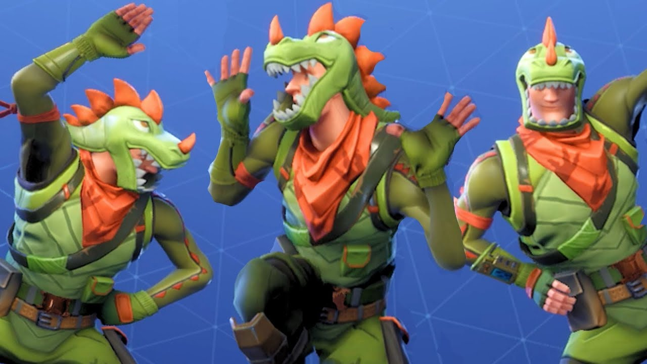 Fortnite rex performs all dances emote season 1 4 youtube - Rex from fortnite ...