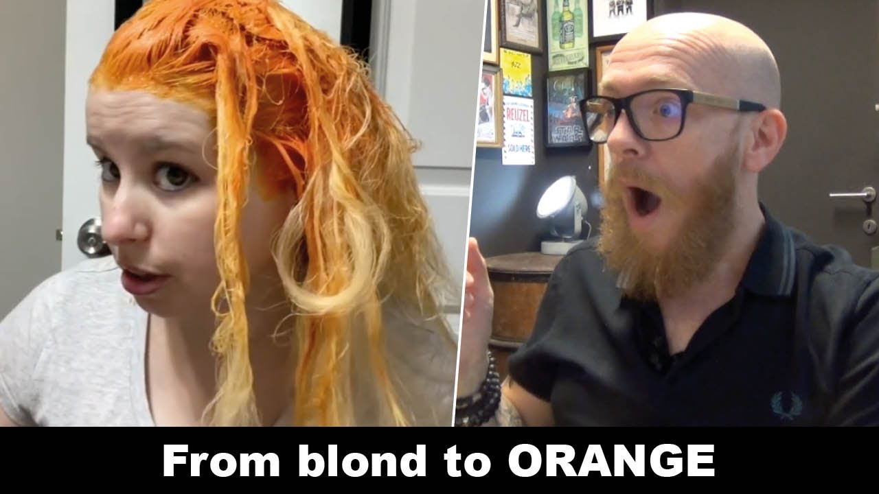 From BLOND to ORANGE !!! - Hair Buddha reaction video