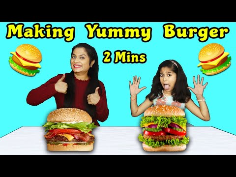 Kids Making Burger In 2 Minutes | Easy Burger Recipe |