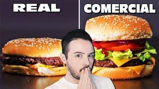 COMIDA REAL vs PUBLICIDAD