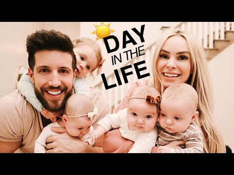 A DAY in the life with TRIPLETS and a toddler Our crazy daily routine