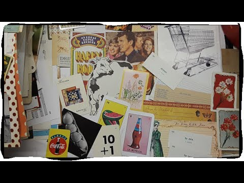 SOLD | 2 Vintage Retro Kitchen Food & Farming Junk Journal Kits | Part 1
