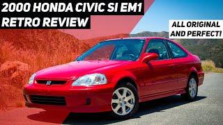 2000 Honda Civic Si EM1 Retro Review: All Original Time Capsule with Nearly 300,000 Miles!