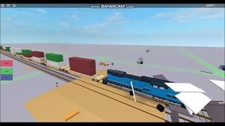 ROBLOX - Train hits Semi Truck - Wreck - Not Very BRIGHT!