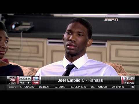 2014 NBA Draft Joel Embiid No. 3 Overall Pick - YouTube