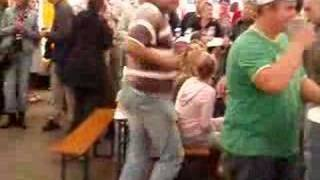 gabberarnold: 45 year old guy with braindamage goes mad!