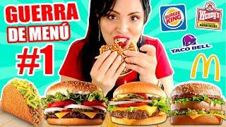 PROBANDO TODOS LOS MENÚ #1 😱 Cuál Hamburguesa es más Rica?! 😜 Fast Food Challenge Sandra Cires Art