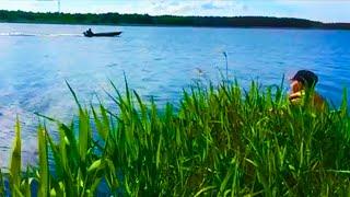 знакомство с  Аятским озером и первая рыбалка на спиннинг