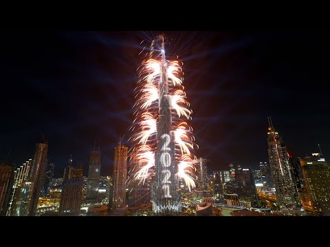 Watch Dubai's 2021 New Year fireworks display