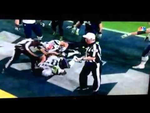 FIGHT!!! Super Bowl 49 Highlights Seahawks Vs Patriots