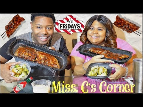 T.G.I Fridays Baby Back Ribs With Miss. C's Corner🍖🐷