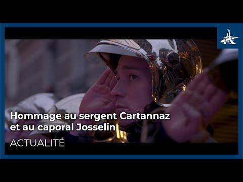 Hommage au sergent Cartannaz et au caporal Josselin