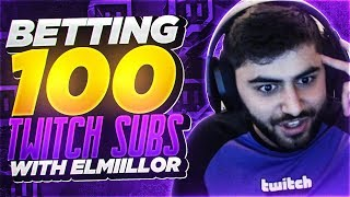 Yassuo | I MADE A BET WITH ELMIILLOR FOR 100 SUBS ON TWITCH!!!