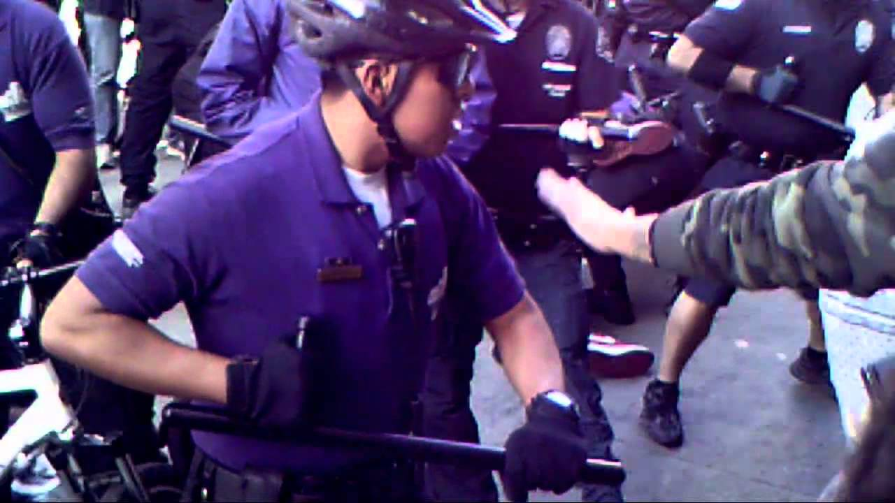 Police Brutality Terrorism At Occupy Los Angeles Youtube