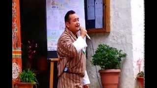 Mr. Kinley Tshering singing his teachers