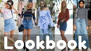 2018 Summer Denim Skirt Outfit Ideas Fashion Trend Lookbook