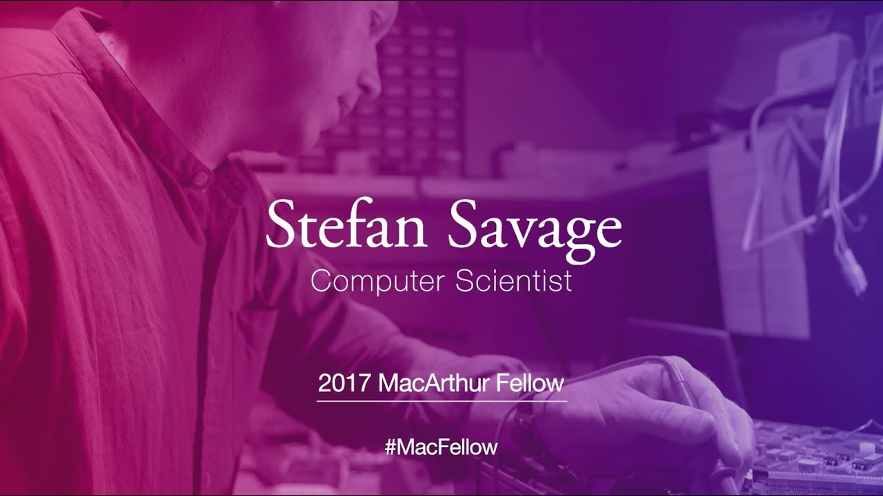 Computer Scientist Stefan Savage | 2017 MacArthur Fellow - YouTube
