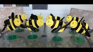 Making Bee Whirligigs For The Garden