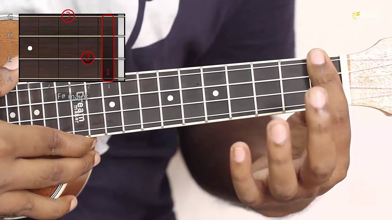 How to play f sharp major ukulele easy chord ukulele lessons how to play f sharp major ukulele easy chord ukulele lessons youtube hexwebz Gallery