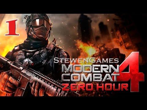 Прохождение игры Modern Combat 4: Zero Hour (Android) #1 (Красный Саммит)