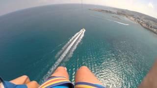 Parasailing 600 feet high - Protaras Cyprus
