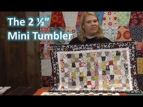The 2 1 2 Quot Mini Tumbler Quilting Template Youtube