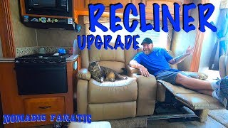 Super Comfy Movie Theater Style Recliner Swap in RV!!!