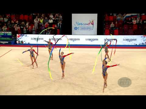 Russian Federation (RUS) - 2019 Rhythmic Junior Worlds, Moscow (RUS) - Qualifications 5 Ribbons