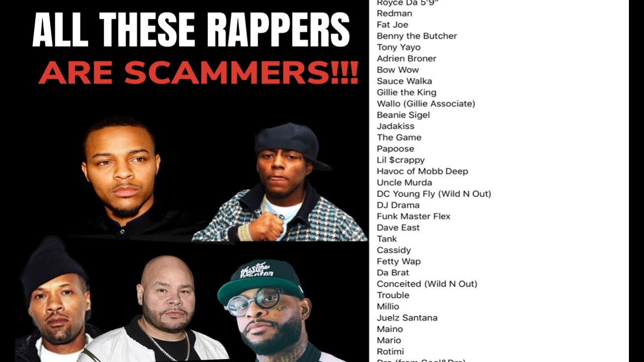 A LIST OF KNOWN RAPPERS SCAMMING!!! (THIS IS SO CRAZY)