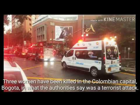 Three killed in blast at Colombia shopping centre to day