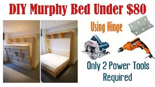 DIY Wall Bed Without Expensive Hardware | Homemade Murphy Bed under $100