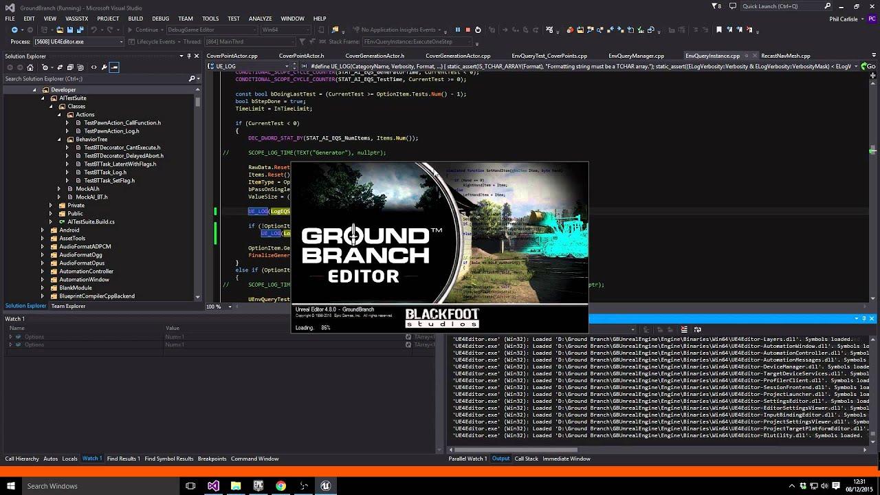Debugging Unreal Engine Example in C++