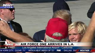la-welcomes-the-president-trump-lands-in-socal-for-roundtable-joint-fundraising-committee-dinner
