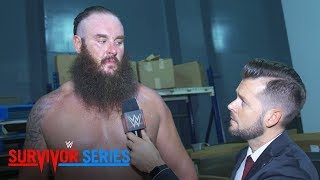 Braun Strowman warns everyone about the repercussions of double-crossing him: Nov. 19, 2017