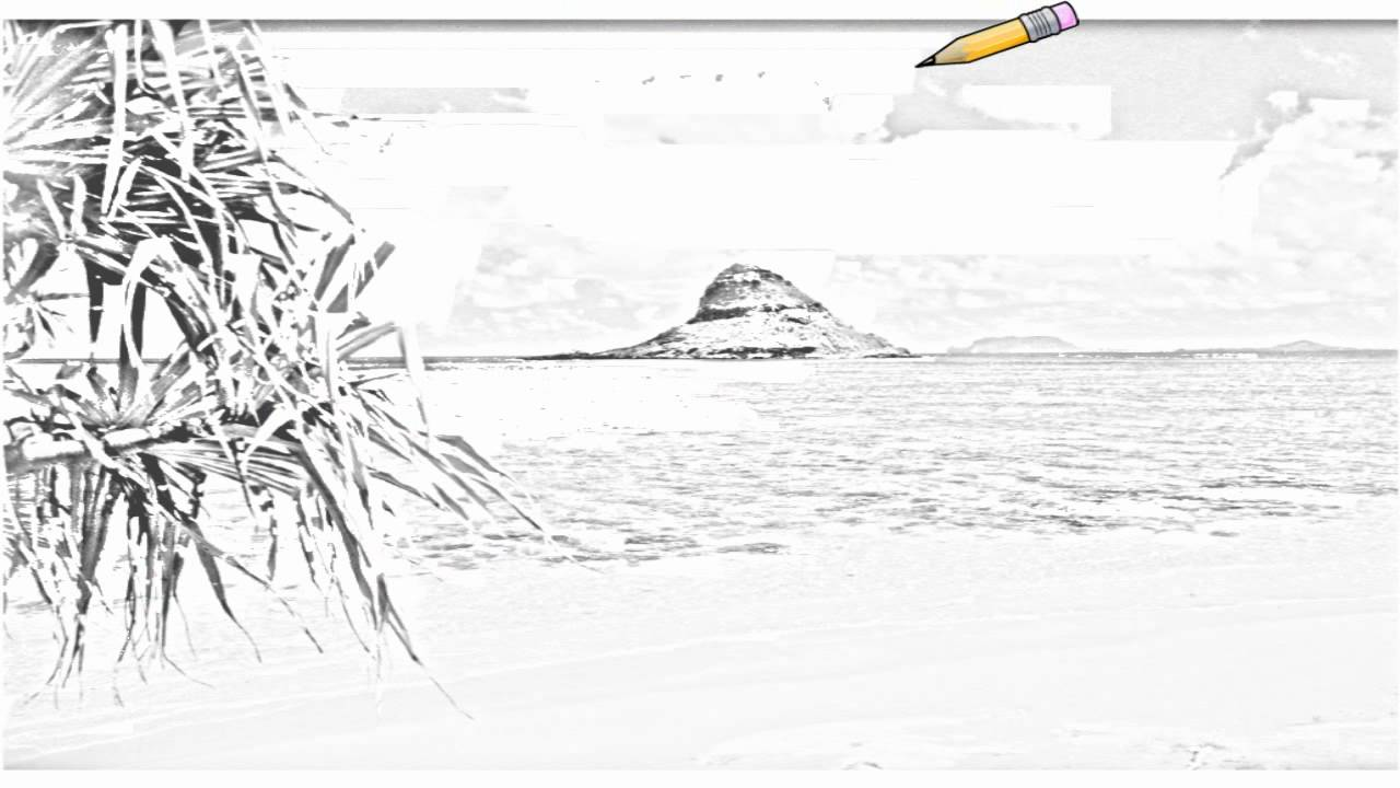 how to draw hawaii island