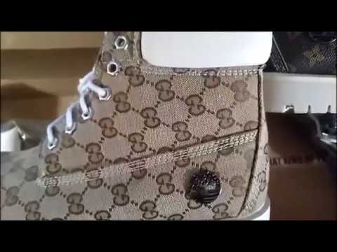 c290efeaf Gucci and Louis Vuitton Timberland Boots - YouTube